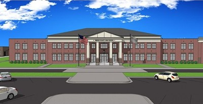 computer drawing of new high school