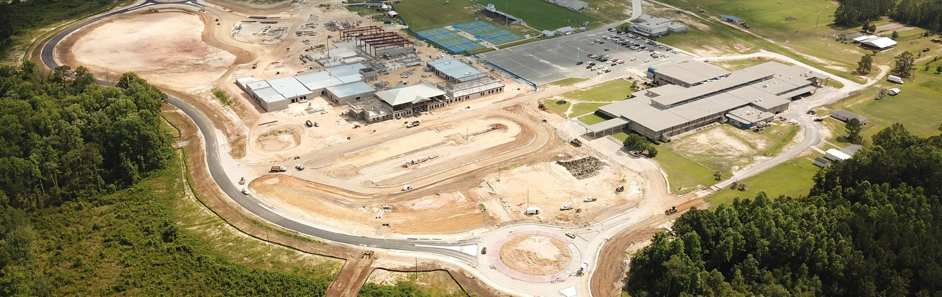 New high school construction progress